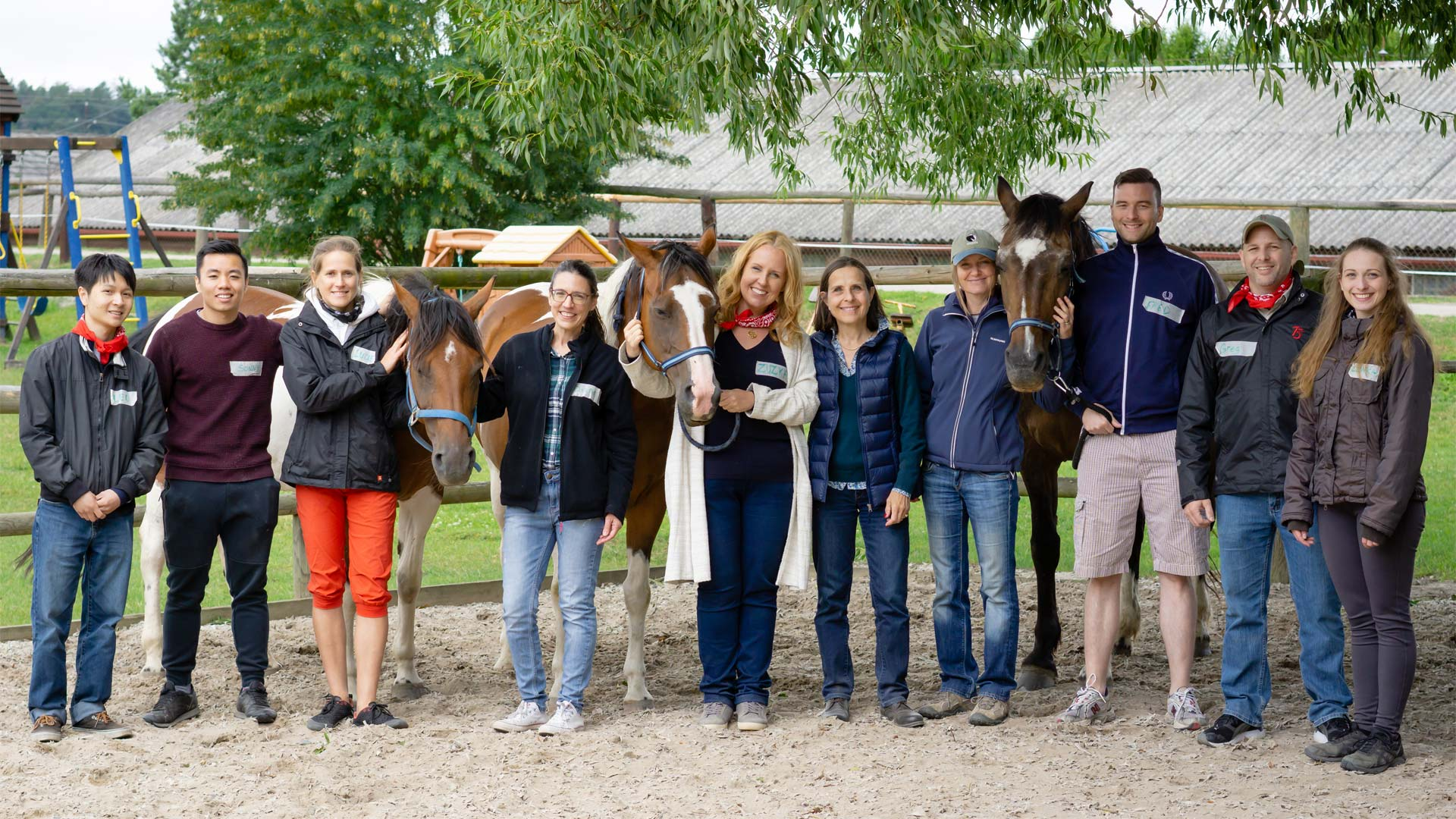 Participants from the June 23rd Coaching with Horses Workshop